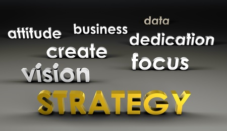 Strategy at the Forefront in 3d Presentation Stock Photo - 10066947