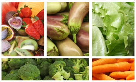 Fruits and Vegetables Variety and Choice Collage Stock Photo - 10231765