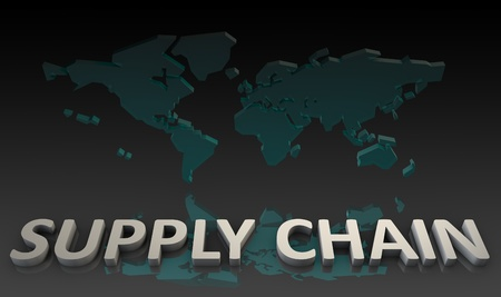 Supply Chain Management Processes As a Concept 写真素材