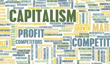 capitalismo: Capitalismo como un concepto econ�mico de crecimiento Foto de archivo