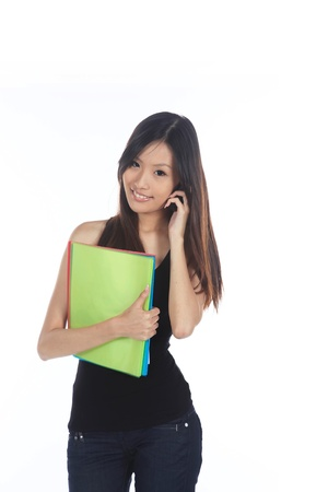 Asian Career Woman From The Office Isolated Stock Photo - 10277615