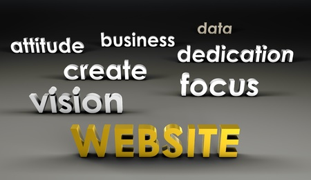 forefront: Website at the Forefront in 3d Presentation Stock Photo