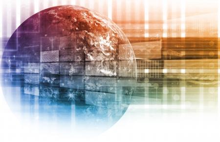 planeaci�n estrategica: Tecnolog�as de la Informaci�n de red de datos como un sistema de Foto de archivo