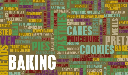 Baking Recipes and Process as a Concept photo