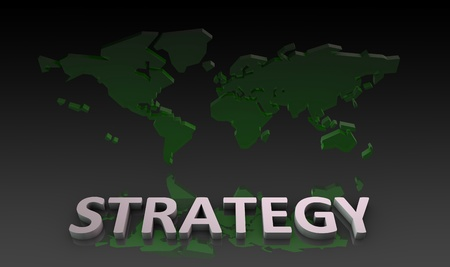 Global Strategy in a Business as a Concept Stock Photo