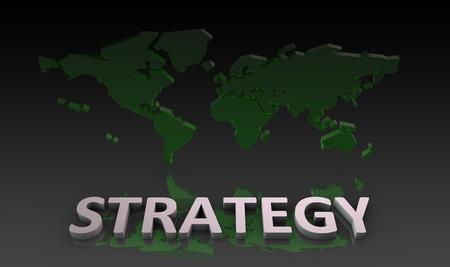 Stratégie globale pour une entreprise en tant que concept Banque d'images - 10286951