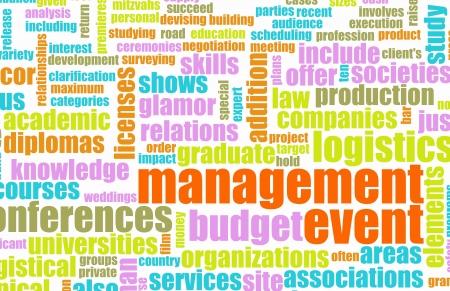 Industria de servicios de gestión de eventos como un arte Foto de archivo - 10286960