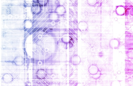 Science Technology Data as a Abstract Art photo