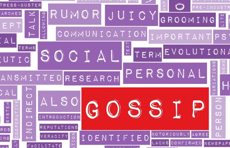 Gossip and Rumors as a Concept Background