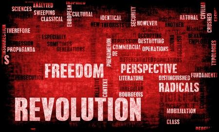 Revolutie in politieke of technische Concept Art