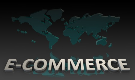 E-Commerce o Comercio Electrónico en línea como un arte Foto de archivo - 10349196