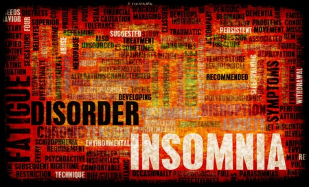 insomnia: Insomnia a Sleep Disorder Concept in Grunge