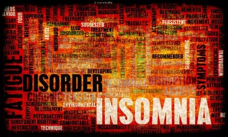 wanorde: Slapeloosheid een slaapstoornis Concept in Grunge