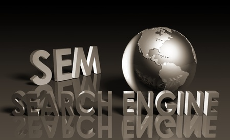 Search Engine Marketing SEM Ranking as Concept photo