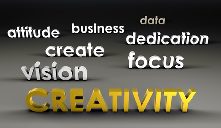 forefront: Creativity at the Forefront in 3d Presentation Stock Photo
