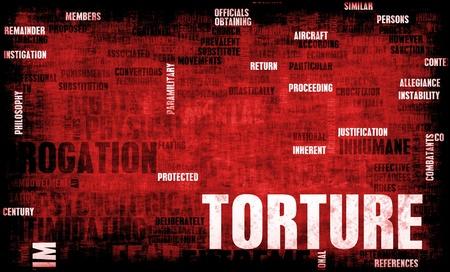 尋問と極端な処罰で拷問 写真素材