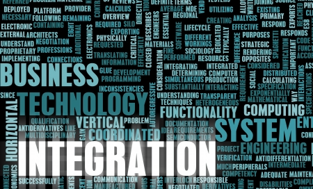 Business Integration as Concept in a Application Stock Photo - 10451642