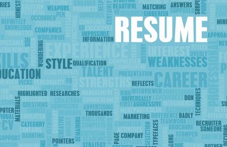 Job Resume of a Well Written CV Concept photo