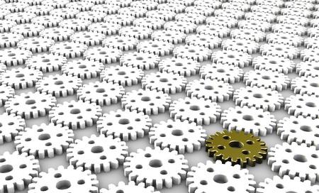 Geïntegreerde Workflow Business Concept als metafoor Stockfoto