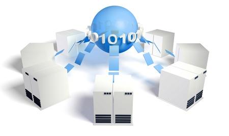 central: Servidor de base de datos del Sistema de Gesti�n con Centroam�rica DB Foto de archivo