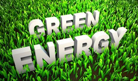 Green Energy en Eco Friendly Concept op Gras