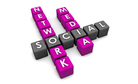 Social Media Network on the Internet in 3d Stock Photo - 10714725