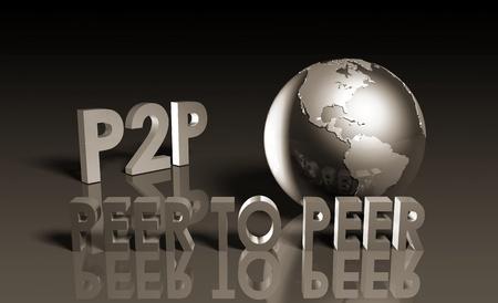 P2P Peer to Peer Technology in 3d photo