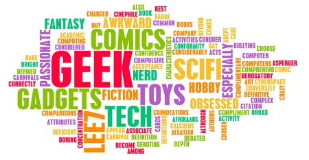dweeb: Geek Culture and Interests or Hobbies Concept