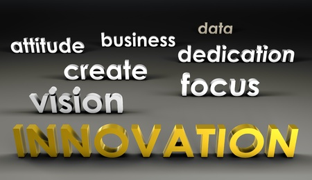 forefront: Innovation at the Forefront in 3d Presentation Stock Photo