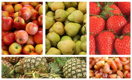 Fruits and Vegetables Variety and Choice Collage Stock Photo - 10777112