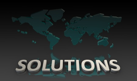 Global Solutions for a Company as a Concept Stock Photo - 10777100