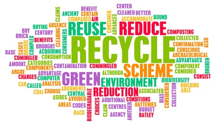 environmental awareness: Recycle Concept with Important Keywords on Art