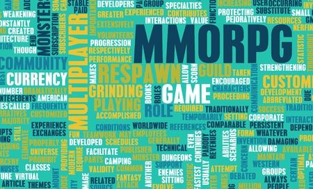r�le: Un jeu de r�le en ligne massivement multijoueur Banque d'images