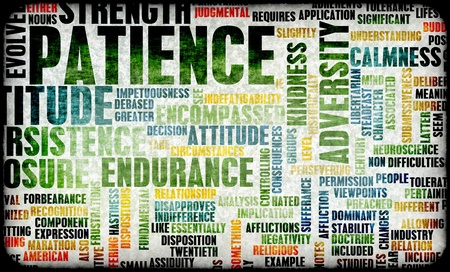 patience: Patience is a Virtue to Success and Glory Stock Photo