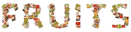 Fruits in Letters Variety and Choice Collage Stock Photo - 11807707