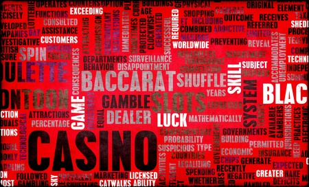 Casino Gaming with Popular Games as Concept Stock Photo - 12437212