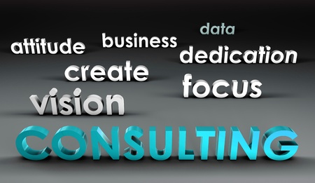 expertise concept: Consulting at the Forefront in 3d Presentation