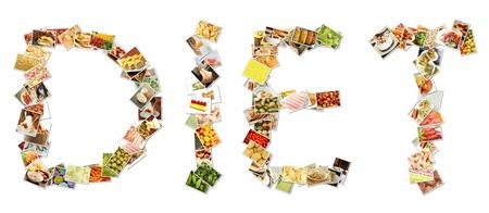 dieta sana: Collage de la dieta saludable de frutas y P�rdida de Peso