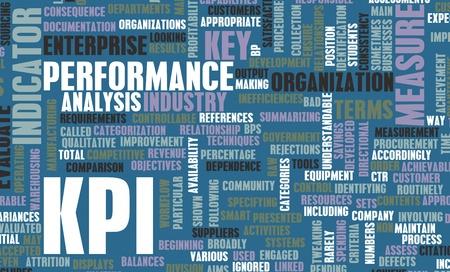 KPI or Key Performance Indicator as Concept  Banco de Imagens