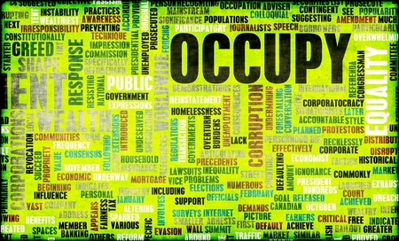 Occupy Movement Around the World as Concept Stock Photo - 12437351