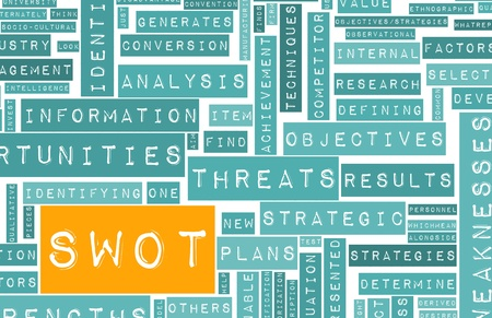 SWOT Analysis to Identify an Individual Concept Stock Photo - 12437290