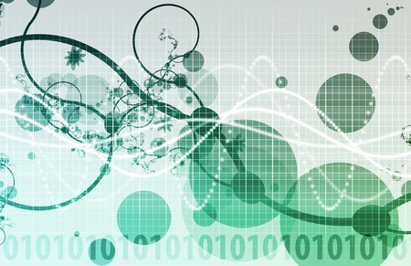 Abstract Background with a Technology Theme Art Stock Photo - 12437297