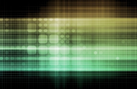Technology Network with a Data Grid System Stock Photo - 12437299
