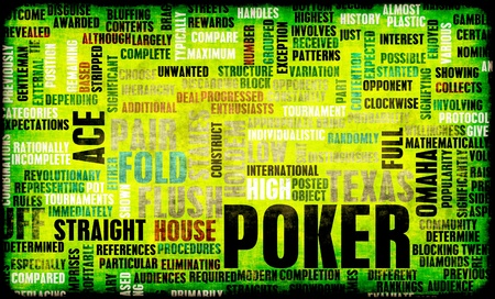 em: Poker Game of Texas Hold Stock Photo