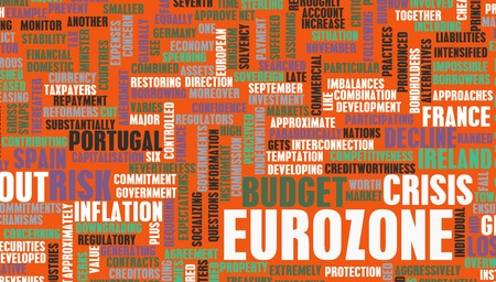 zone euro: Crise zone euro et les probl�mes de la dette en Europe Banque d'images