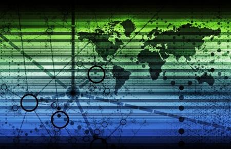 Technologies de l'information ou TI comme un arrière-plan Art Banque d'images - 12783091