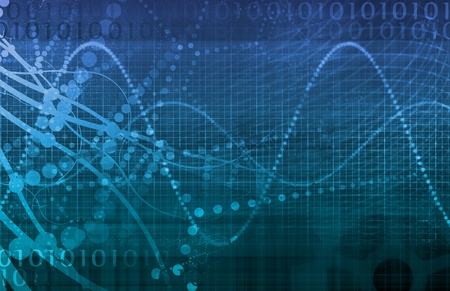 Tech Digital Data Transfer Network als abstract