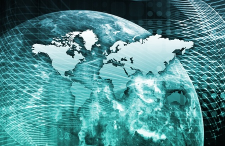 trusted: Security Network Data of the World Background Stock Photo