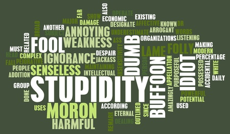 Stupidity of a Person in a Concept Image Stock Photo - 12790863