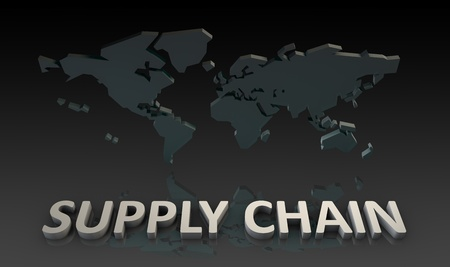 Supply Chain Management Processes As a Concept Stock Photo